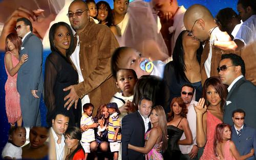 Toni Braxton and family