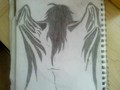 Trible angel wings - drawing photo