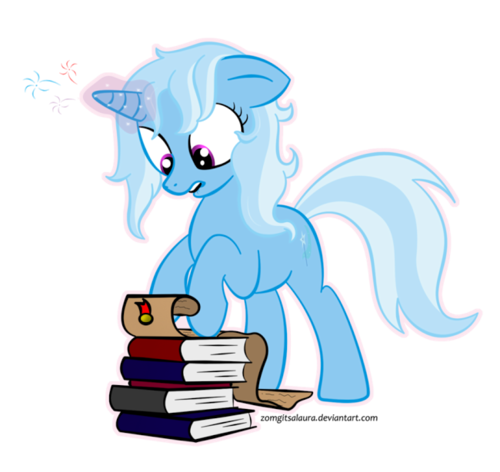 Trixie's studying