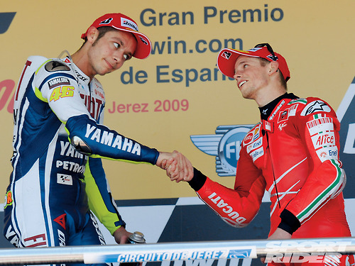 Valentino Rossi Images Vale And Casey Stoner Wallpaper And