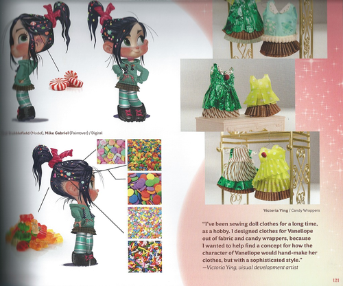 Vanellope karatasi la kupamba ukuta titled Vanellope (The Art of Wreck-It Ralph)