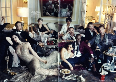 Joel Kinnaman wallpaper containing a brasserie entitled Vanity Fair - May 2012
