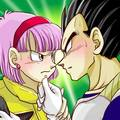 Vegeta trying to kiss Bulma on Namek