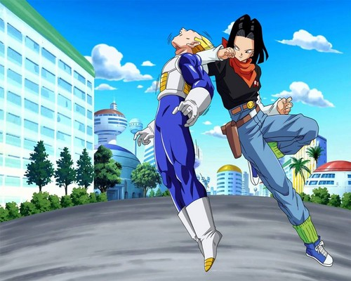 Vegeta vs Android 17