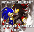 Wait till Shadow meets Sonia and Manic - shadow-the-hedgehog fan art