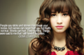 Words Can Hurt - Demi Lovato - depression photo