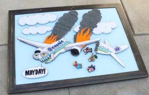 Yarn Art Crashing plane