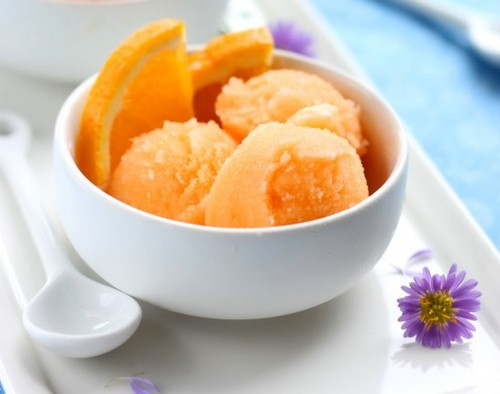 Yummy oranje Sorbet