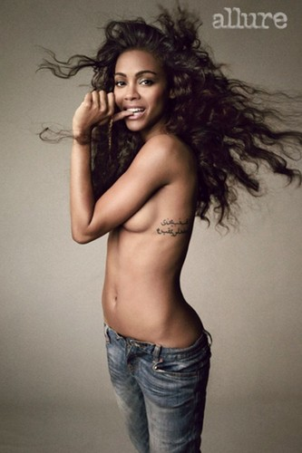 Zoe Saldana: Her Allure photo Shoot