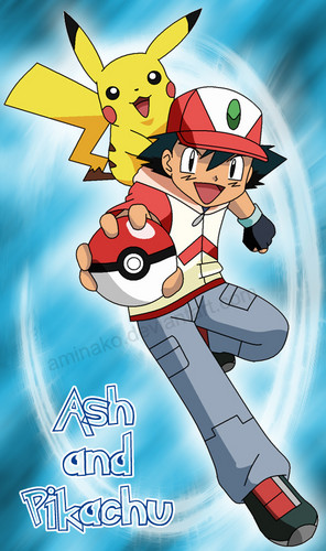 ash with pikachu