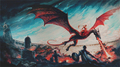 Daenerys Targaryen & Drogon - a-song-of-ice-and-fire fan art