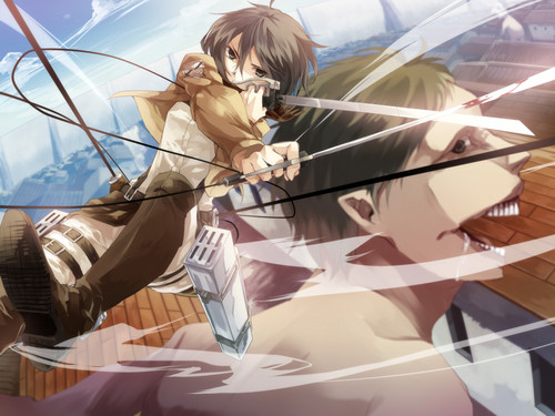 attack on titan - shingeki-no-kyojin-attack-on-titan Wallpaper
