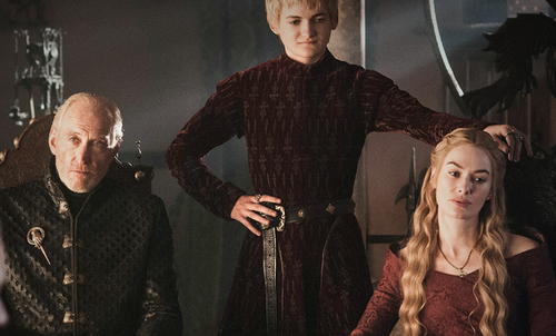 cersei with joffrey and tywin