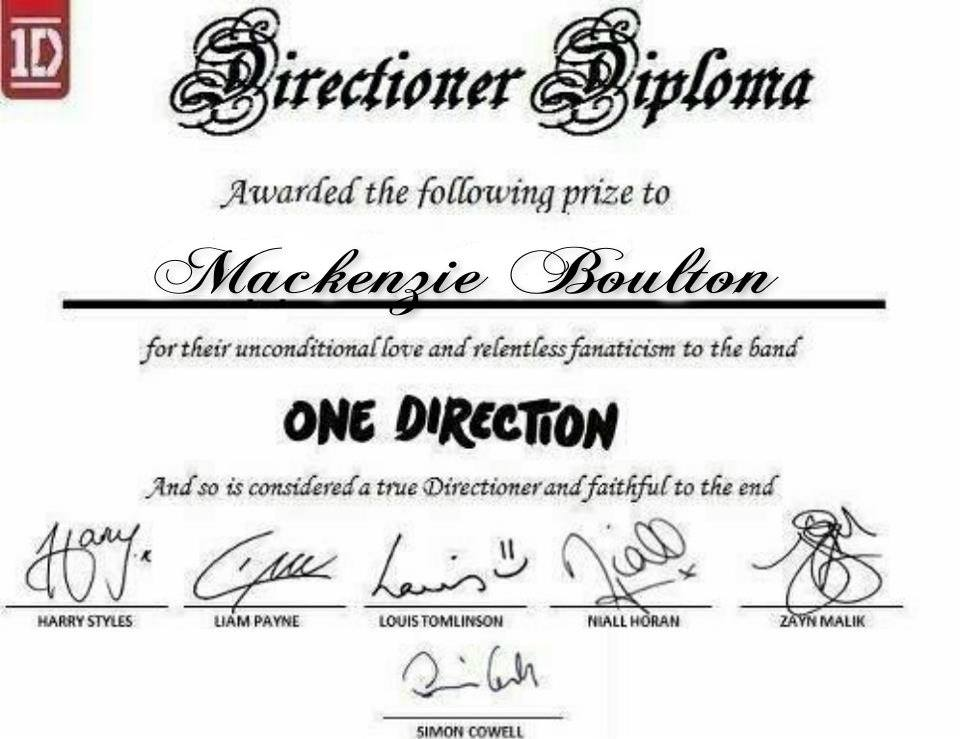 Certificate one direction fan art 34618568 fanpop