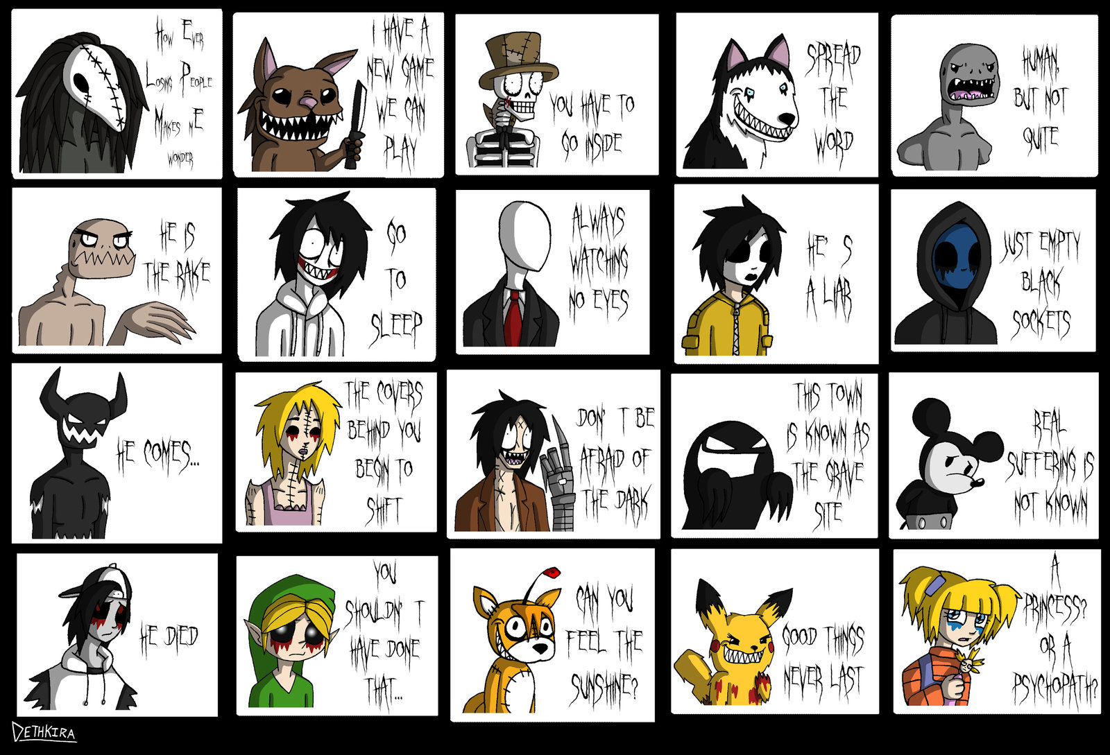 Anime Characters Catchphrases : Creepypastas creepypasta photo  fanpop