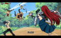 erza kicking the guys who want gray .