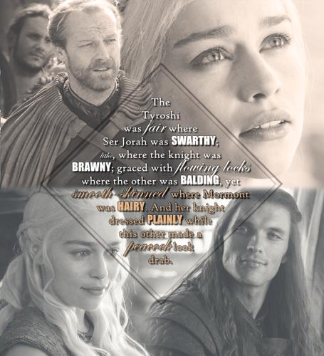 Daenerys Targaryen, Daario Naharis & Jorah Mormont