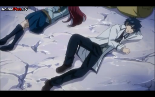 gray and erza sleeping