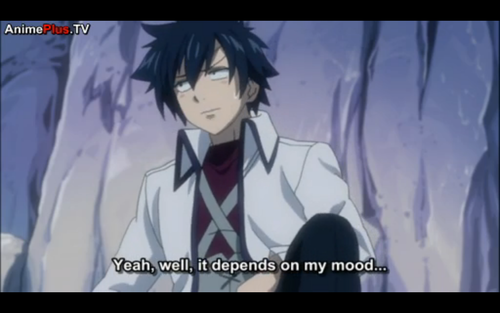 gray reaction to erza comentario