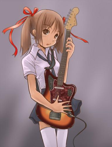 guitare animé girl