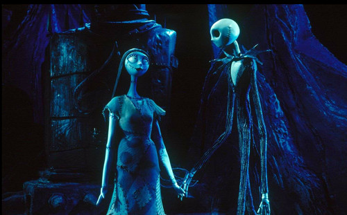Nightmare Before Christmas wallpaper containing a concert and a guitarist called jack and sally
