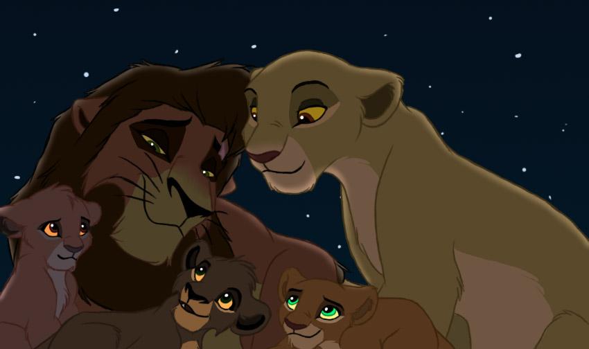 kiara and kovu's family