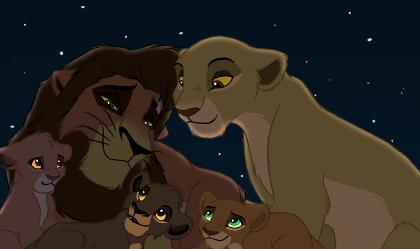 kiara and kovu's family - The Lion King Photo (34623364 ...