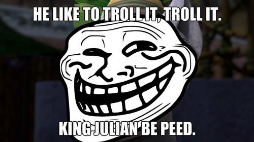 king julian be peed