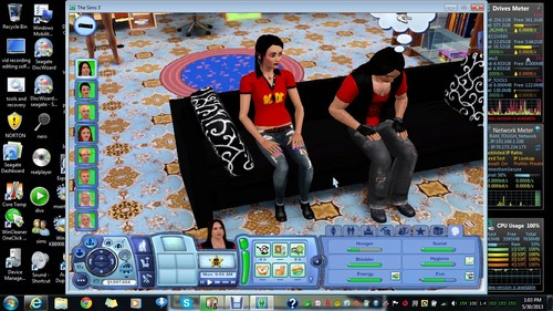 me and brian as sims