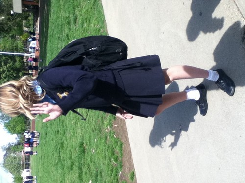 me at school