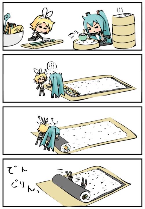 miku and rin sushi