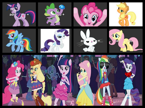my little pony humans and pony