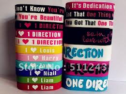 one direction wristbands collection 2