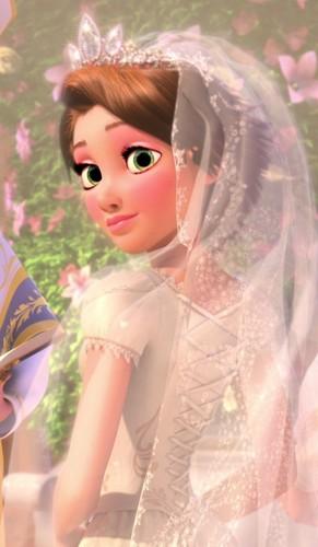 rapunzel's reception look