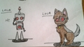robot and pet lola