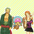 zoro nami in One Piece - nami-and-zoro fan art
