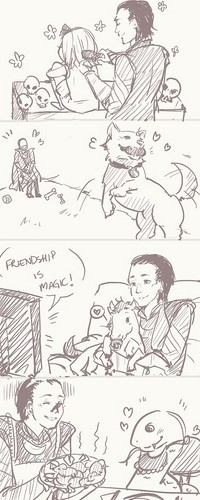 Adorable daddy loki and hes Adorable kids