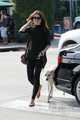 Crystal Reed in Hollywood with her dog - crystal-reed photo