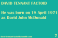 ❤David Tennant Factoids❤ - david-tennant photo