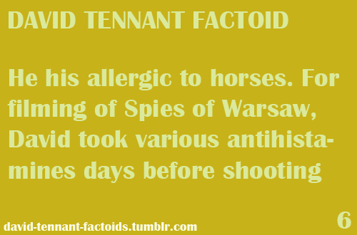 ❤David Tennant Factoids❤