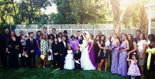Jackson family at the wedding of Taj Jackson
