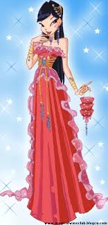 Musa from WINX 壁纸 probably with a polonaise, an overskirt, and a kirtle, 长裙 entitled ♥Musa♥