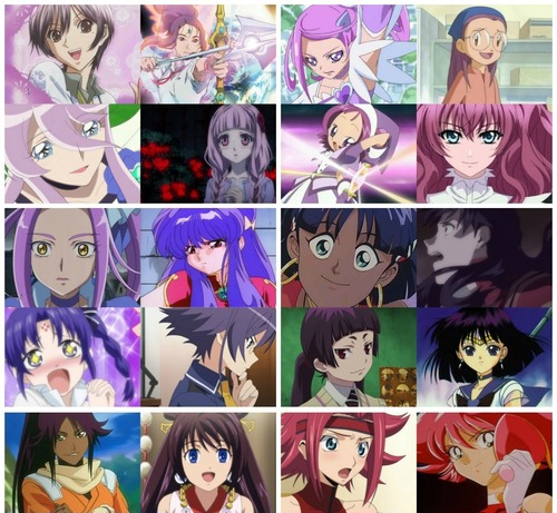 Pink-ish/Purple Haired アニメ Characters