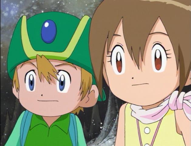 Tk and Kari - Digimon Render by outwardsandinwards on