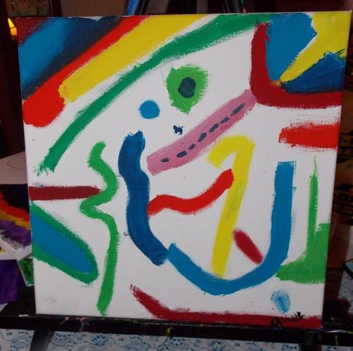 Abstract Abby Original Art
