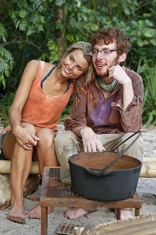 Andrea with the winner of Survivor Season 26 John Cochran.