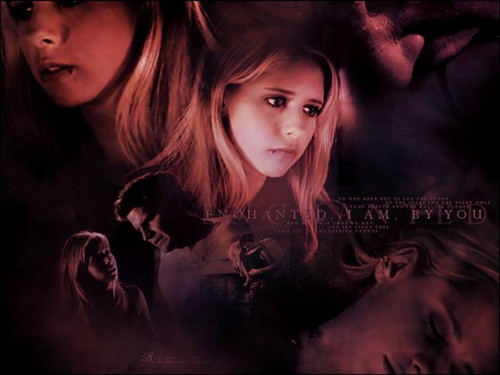 Buffy Summers wallpaper probably with a portrait called Angel & Buffy
