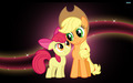 Applebloom and Applejack - my-little-pony-friendship-is-magic wallpaper
