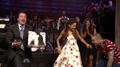 Ariana performs