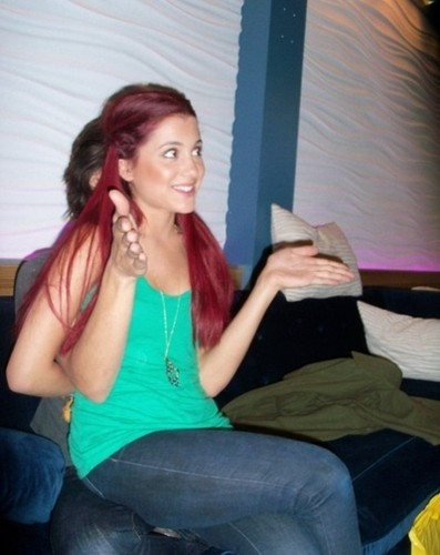 Ariana sitting on Avan's lap